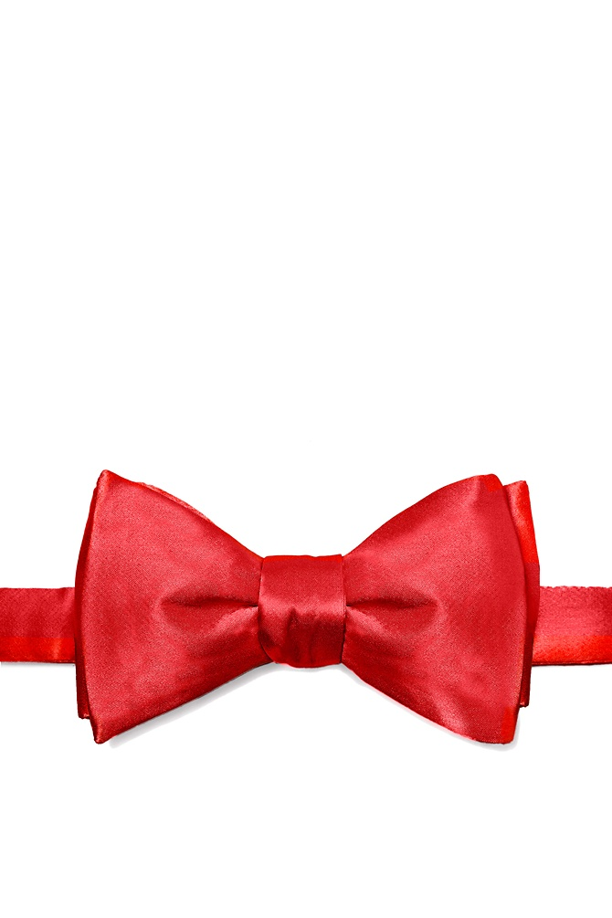 1950s Men's Clothing Christmas Red Self-Tie Bow Tie by Elite Solid -  Christmas red Silk $35.00 AT vintagedancer.com