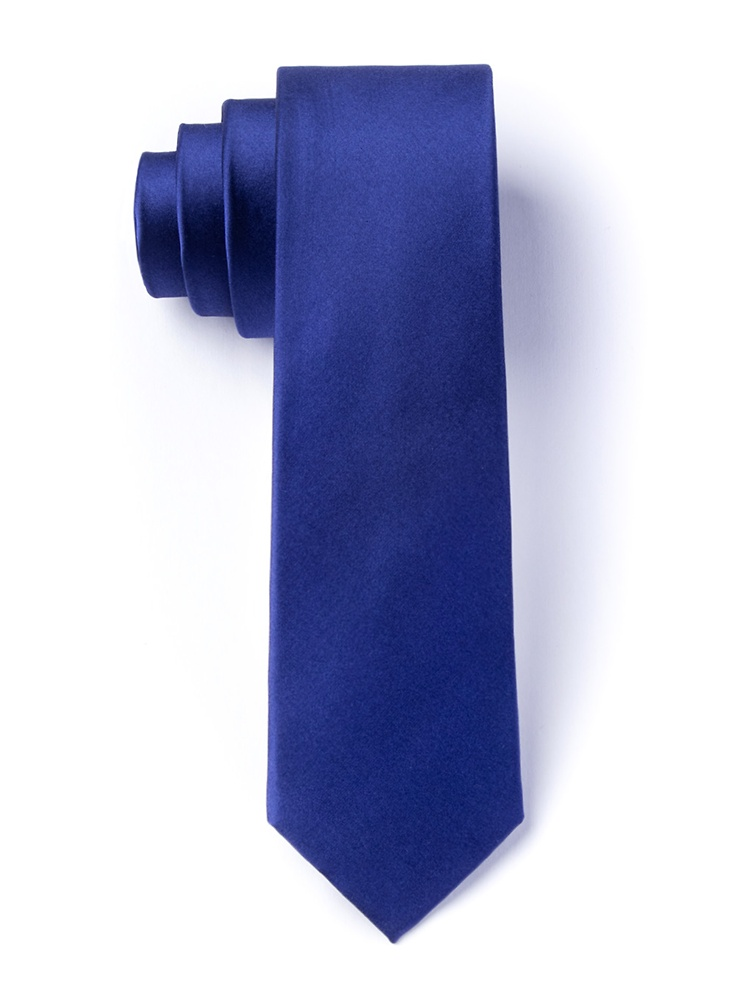 1950s Men's Clothing Royal Blue 2.25 Skinny Tie by Elite Solid -  Royal blue Silk $35.00 AT vintagedancer.com