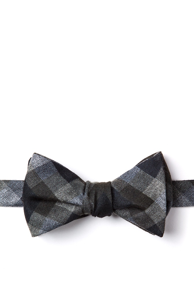 1950s Men's Clothing Richland Self-Tie Bow Tie by Ties.com -  Black Cotton $17.50 AT vintagedancer.com