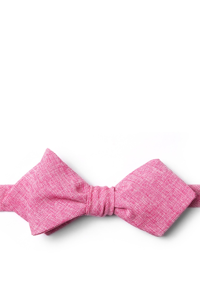 1950s Men's Clothing Denver Diamond Tip Bow Tie by Ties.com -  Hot pink Cotton $12.50 AT vintagedancer.com