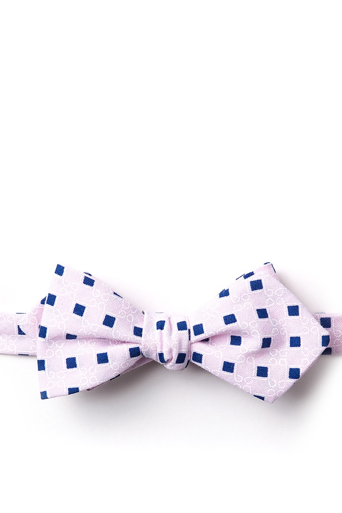 1950s Men's Clothing Jamaica Diamond Tip Bow Tie by Ties.com -  Pink Cotton $12.50 AT vintagedancer.com
