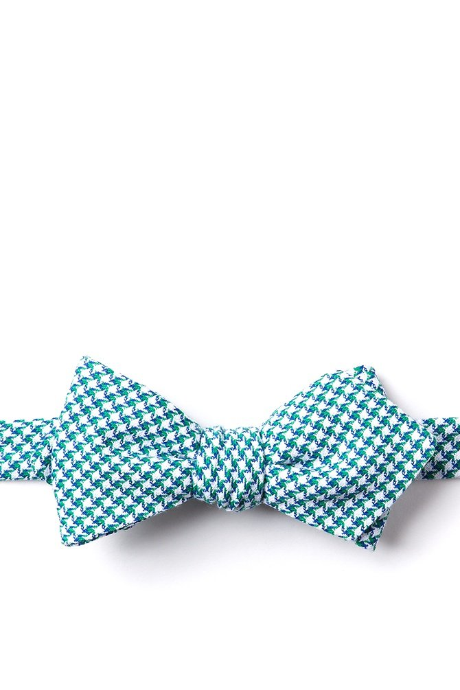 1950s Men's Clothing Sadler Diamond Tip Bow Tie by Ties.com -  Green Cotton $12.50 AT vintagedancer.com