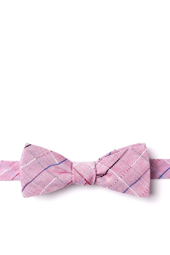 1950s Men's Clothing Tom Skinny Bow Tie by Ties.com -  Red Cotton $10.00 AT vintagedancer.com