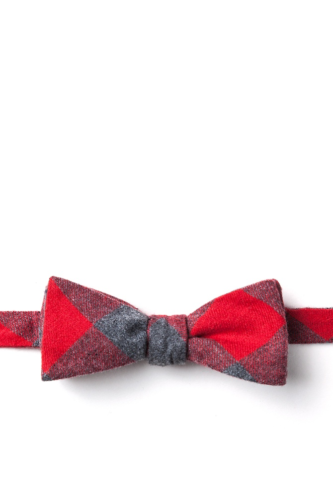 1950s Men's Clothing Kent Skinny Bow Tie by Ties.com -  Red Cotton $10.00 AT vintagedancer.com
