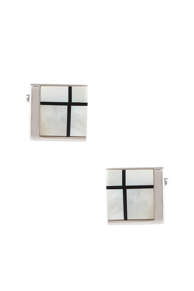 New 1930s Mens Fashion Ties Corner Square Cufflinks by Silk Rhino -  Mother of pearl Metal $19.50 AT vintagedancer.com