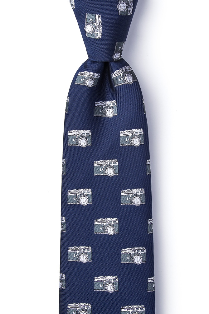 1950s Men's Clothing Vintage Cameras Extra Long Tie by Wild Ties -  Navy Blue Microfiber $35.00 AT vintagedancer.com