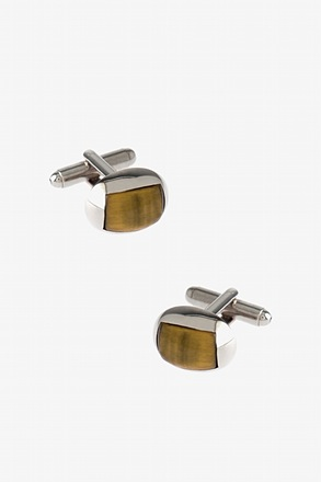 Rounded Patterned Oval Cufflinks