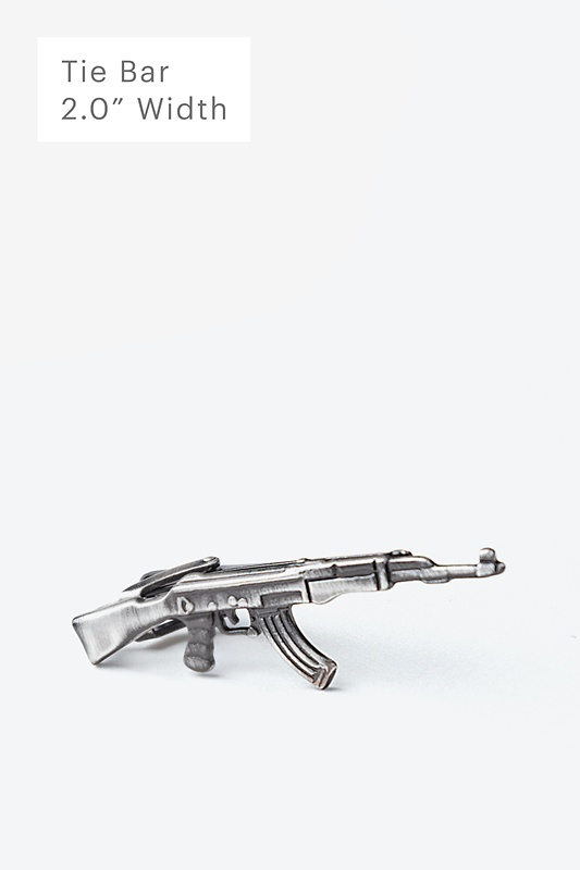 AK-47 Antiqued Silver Tie Bar Photo (0)