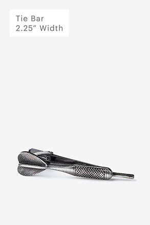 Dart Antiqued Silver Tie Bar