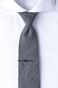 Knotted Rope Antiqued Silver Tie Bar