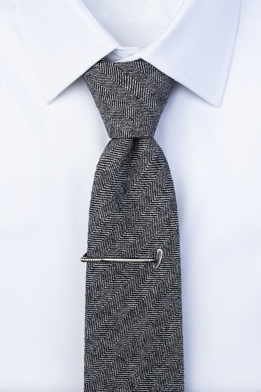 Tap That Antiqued Silver Tie Bar Photo (2)
