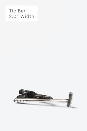 Tap That Antiqued Silver Tie Bar