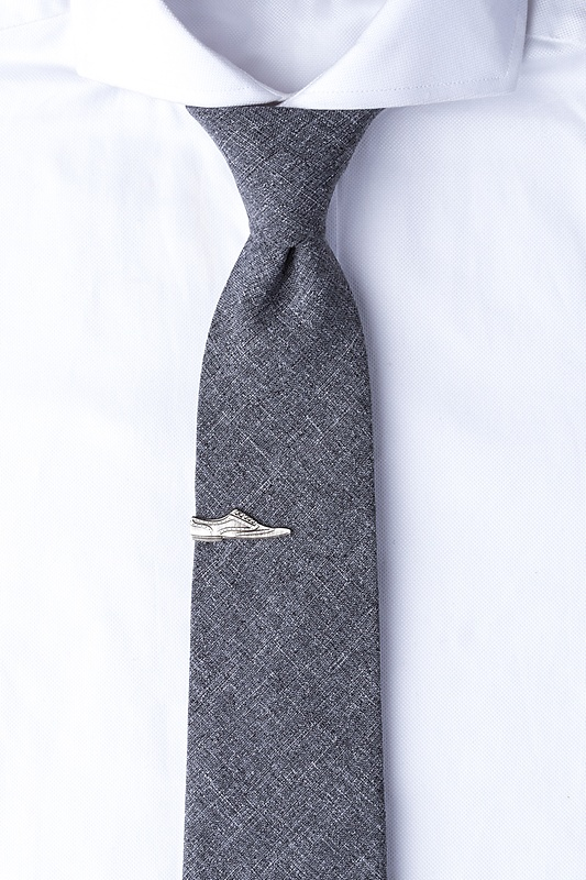 Wingtip Antiqued Silver Tie Bar Photo (2)
