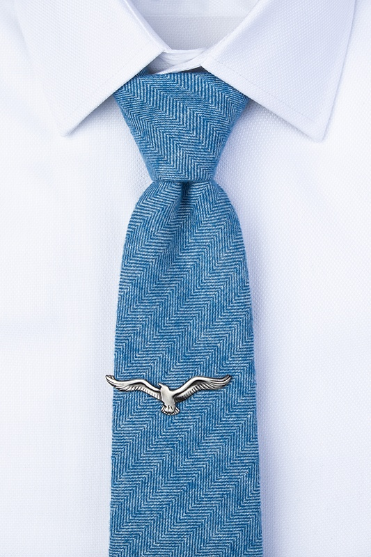You Go Gull Antiqued Silver Tie Bar Photo (2)