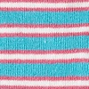 Aqua Carded Cotton Beverly Hills Stripe