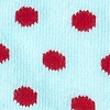 Aqua Carded Cotton Buena Park Polka Dot Sock