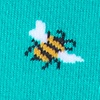 Aqua Carded Cotton Just Bee Yourself Sock