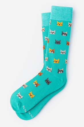 _Kitty Cat Aqua Sock_