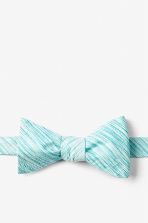 Aqua Scott Butterfly Bow Tie