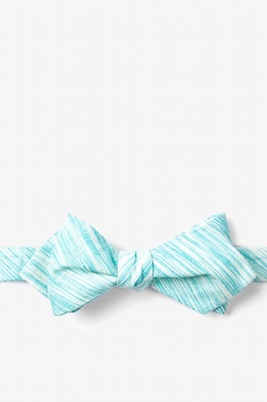 Aqua Scott Diamond Tip Bow Tie