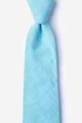 Aqua Cotton Norton Extra Long Tie