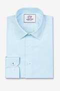 Evan Aqua Slim Fit Dress Shirt