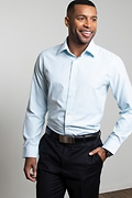 Evan Aqua Slim Fit Dress Shirt Photo (2)