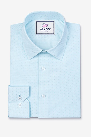 _Evan Aqua Slim Fit Dress Shirt_