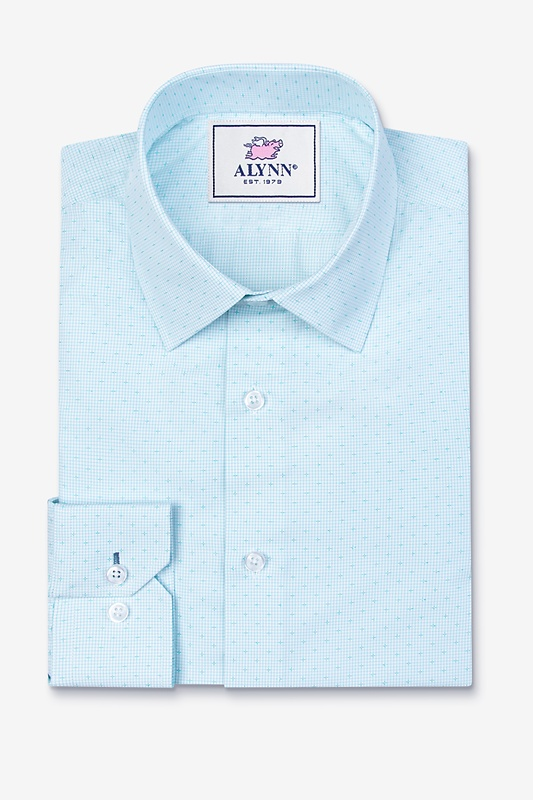 Evan Aqua Slim Fit Dress Shirt Photo (0)