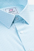 Evan Aqua Slim Fit Dress Shirt Photo (4)