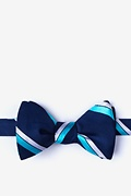 Aqua Silk Axel Self-Tie Bow Tie
