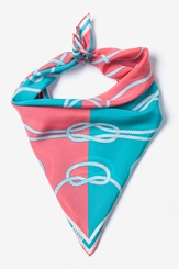 Aqua Silk Feeling Knotty Neckerchief