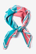 Feeling Knotty Aqua Square Scarf by Alynn