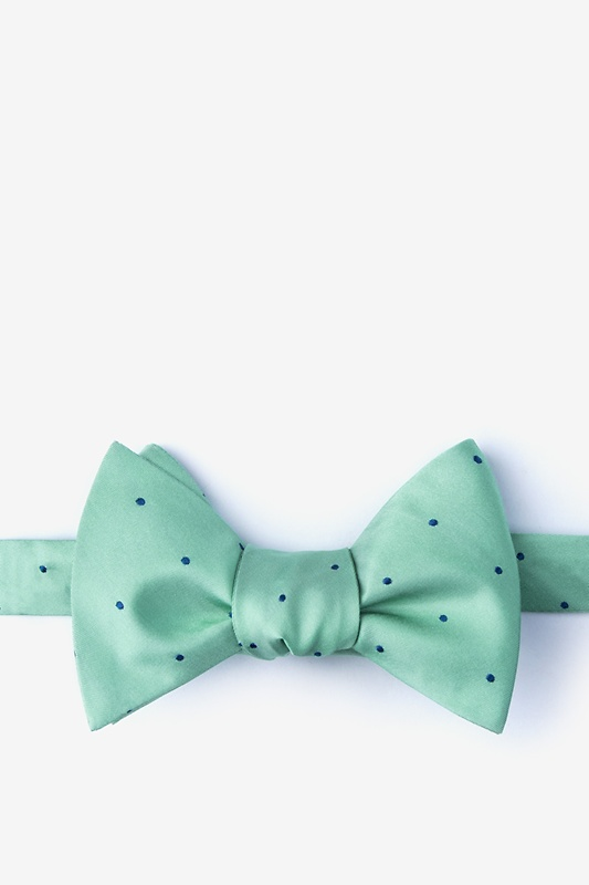 Griffin Aqua Self-Tie Bow Tie Photo (0)