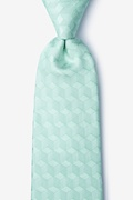 Aqua Silk Salt Extra Long Tie