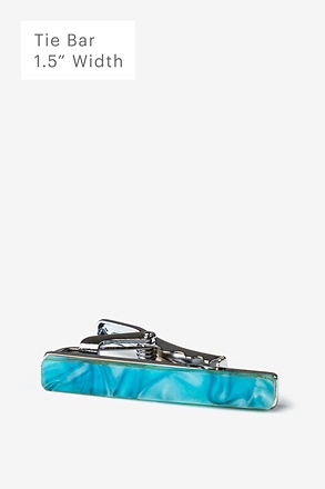 Recycled Glass Aquamarine Tie Bar