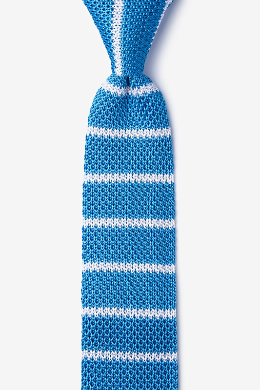 Briton Stripe Knit Skinny Tie Photo (0)