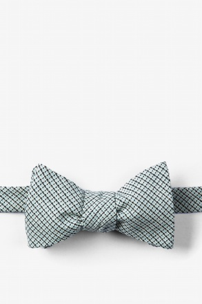 Baby Blue Andrew Plaid Butterfly Bow Tie