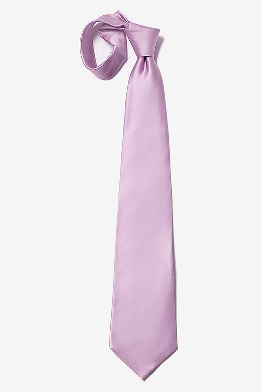 Baby Lilac Extra Long Tie Photo (3)