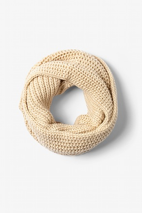 Beige Concord Knit Infinity Scarf
