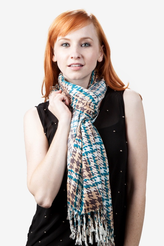 Plaid Beige Pashmina by Scarves.com
