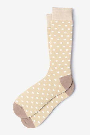 _Power Dots Beige Sock_