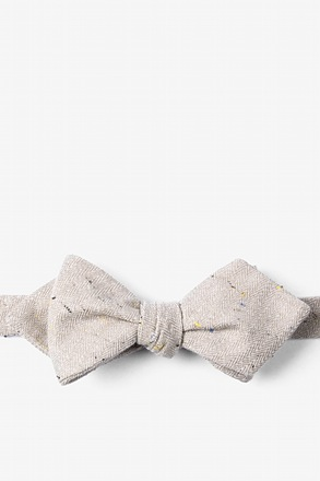 Beige Tamster Diamond Tip Bow Tie