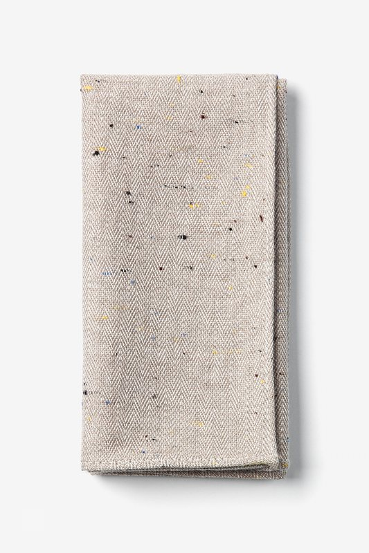 Beige Tamster Pocket Square