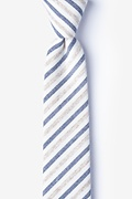 Beige Cotton Englewood Skinny Tie