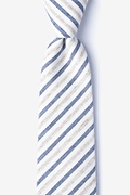 Beige Cotton Englewood Tie