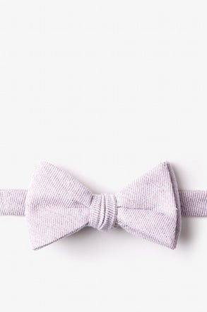 Hitchcock Beige Self-Tie Bow Tie