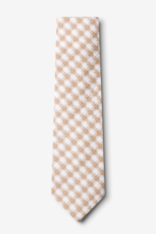 Kingman Beige Extra Long Tie Photo (1)