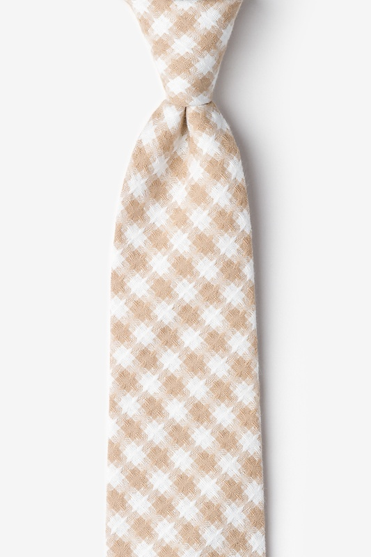 Kingman Beige Extra Long Tie Photo (0)