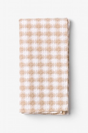 Kingman Beige Pocket Square